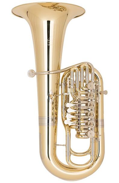 Miraphone F481C-6V (5V Right + 1V Left) Elektra F Tuba in Yellow Brass