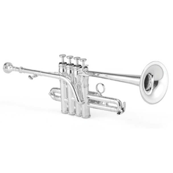 Jupiter 1700S XO Model Bb/A Silver-Plated Piccolo Trumpet