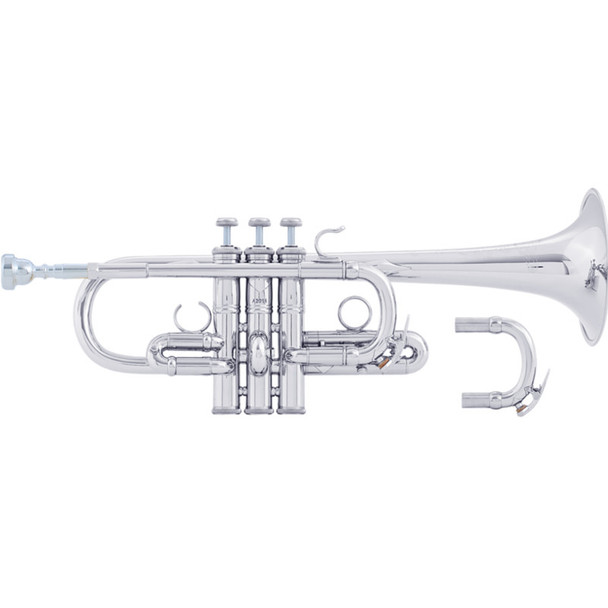 Bach AE190S Eb Trumpet- Silver Plate