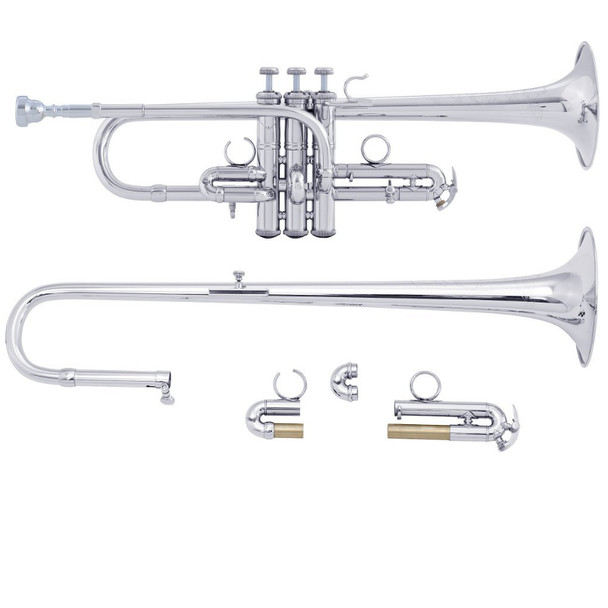 Bach ADE190S D/Eb Trumpet Silver Plate