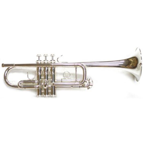 Dillon C Trumpet Silver Plate