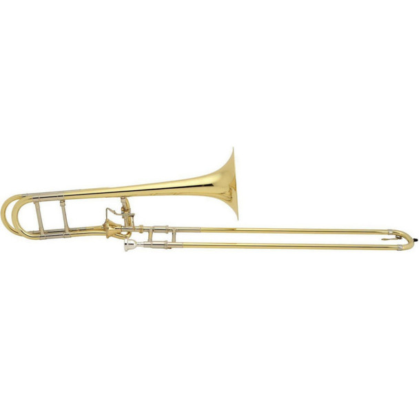 Bach Artisan Model A47I Tenor Trombone with gold brass bell and gold brass tuning slide
