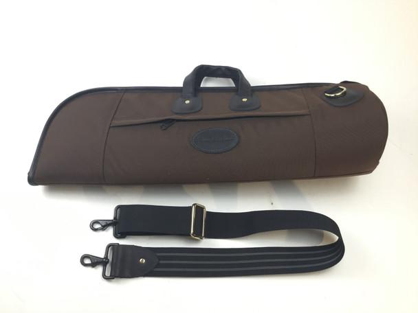 Used Cronkhite Brown Cordura Single Trumpet Case [202]