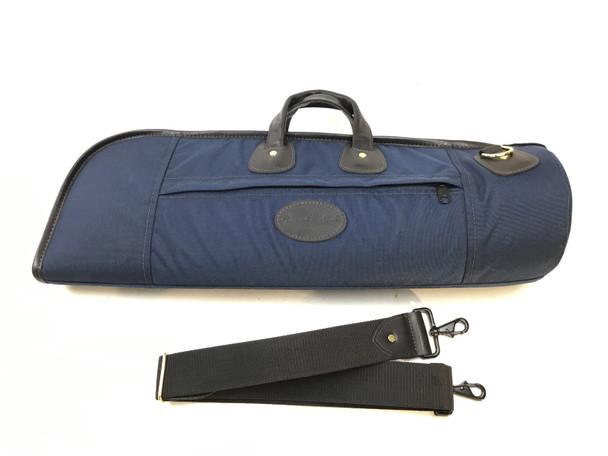 Used Cronkhite Dark Blue Cordura Single Trumpet Case [280]