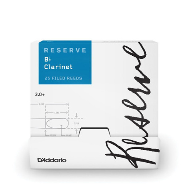 D'Addario Reserve Bb Clarinet 25-Count Single-Sealed Reeds