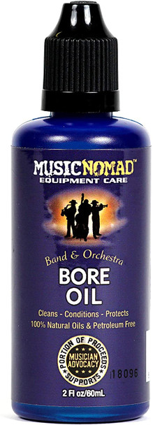 Music Nomad Bore Oil-100% Natural Oil, Petroleum Free 2 oz.