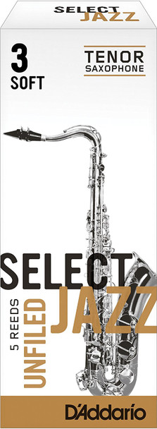 D'Addario Select Jazz Unfiled Tenor Sax Reeds Box of 5