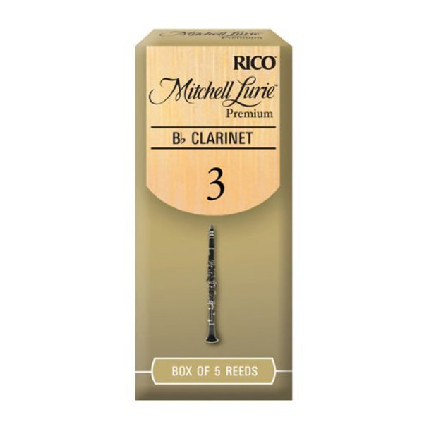 Rico Mitchell Lurie Bb Clarinet Reeds, Box of 5