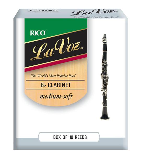 Rico La Voz Bb Clarinet Reeds, Box of 10