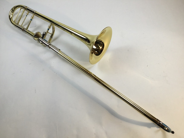 Demo Getzen 3047AF Bb/F Tenor Trombone Yellow Brass Bell (SN: 5443)