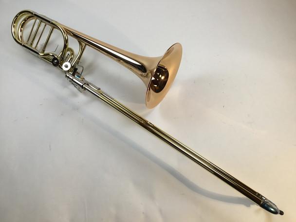 Demo Getzen 1052FD Bb/F/Gb/D Bass Trombone Red Brass Bell (SN: 2728)