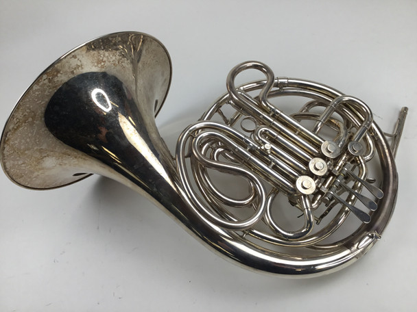 Used Conn 8D Silver French Horn (SN: 128953)