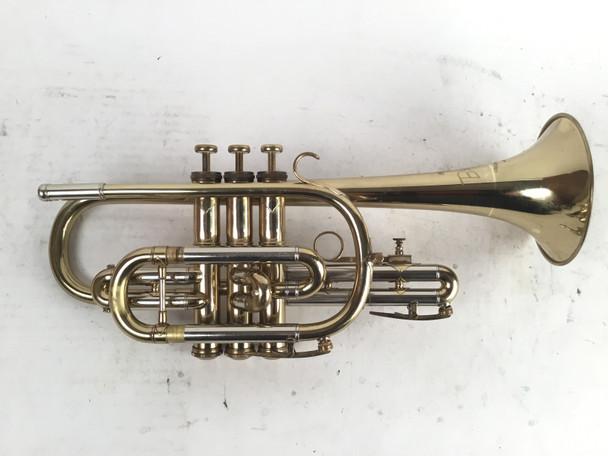 Used Besson 2-20 Bb Cornet (SN: 387077)