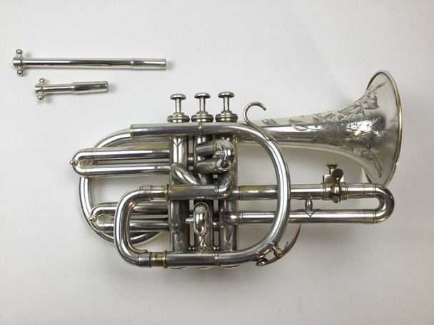 Used Besson Compensating Bb/A Cornet (SN: 76064)