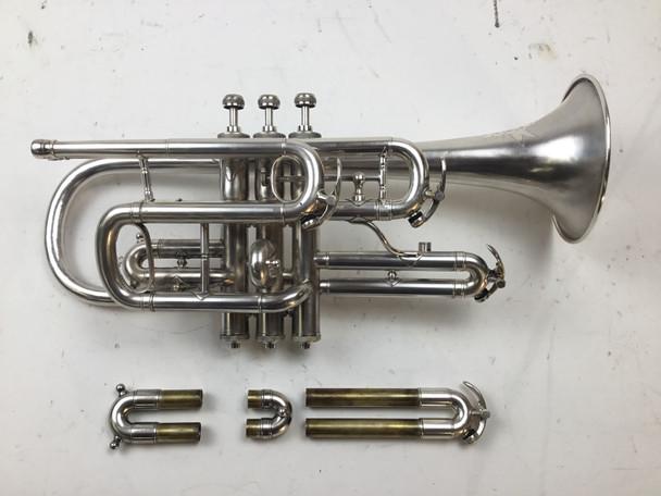 Used Buescher C/Bb/A Cornet (SN: 8314)