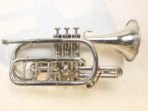 Used French Besson Brevete Bb Cornet (SN: 78709)