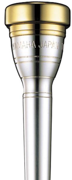 Yamaha Gold-Plated Rim/Cup 14E short shank Cornet Mouthpiece