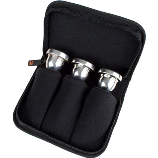 Protec Tuba Mouthpiece Pouch – 3 Piece (Nylon) with Zipper Closure