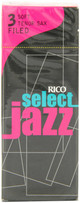 D'Addario Select Jazz Filed Tenor Sax Reeds Box of 5