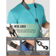 """Protec Leather """"Less-Stress"""" Neck Strap w/ Deluxe Metal Trigger Snap (Regular 22″)"""