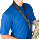 "Protec Saxophone Less Stress Neck Strap 22"" Regular with Metal Snap"