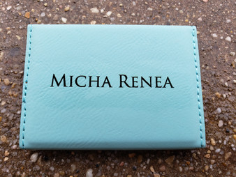 Personalized Engraved Leather Business Card Holder, Hard Business Card Case, Personalized Card Case, Office Gift, Credit Card Case