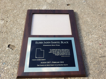 LDS Missionary Plaque