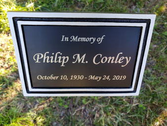 Cast Aluminum Outdoor Plaque, Garden Plaque, Memorial Plaque, Dedication Plaque, Tree Plaque