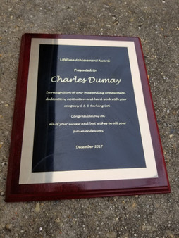 Personalized Engraved 8x10 Award Plaque, Wall Plaque, Corporate Award, Team Plaque, Employee Award, Recognition Plaque