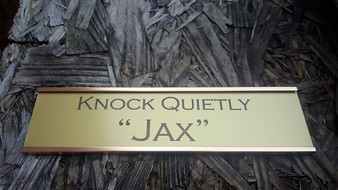 Gold Office Wall Nameplates with Holder