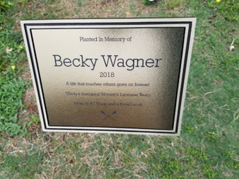 Personalized Engraved Gold Outdoor Plaque w/ Stake, Memorial Plaque, Garden Plaque, Building Plaque, Park Plaque, Custom Plaque