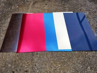 "Custom Cut 22 Gauge Color Coated Aluminum Sheet, Indoor Metal, .025"" Blank Metal Sheet Etching, Jewelry, Embossing, Stamping, DIY"