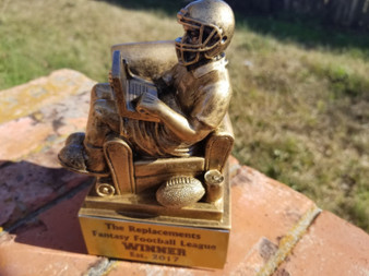 """Personalized 6"""" Antique Gold Fantasy Football Trophy, Football Award"""