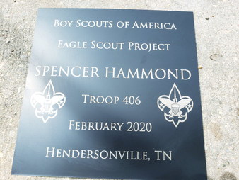 Personalized Eagle Scout Project Name Plate, Boy Scouts Project Plate