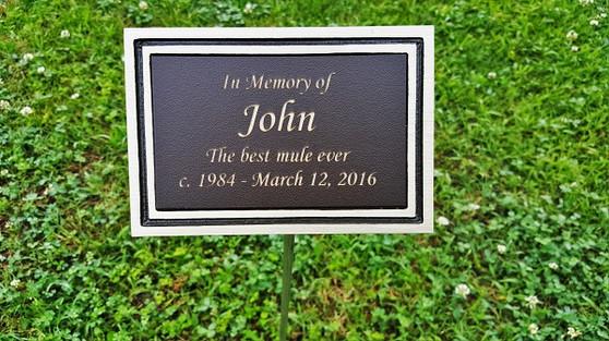 Bronze Outdoor Plaque, Garden Plaque, Memorial Plaque, Dedication Plaque, Tree Plaque