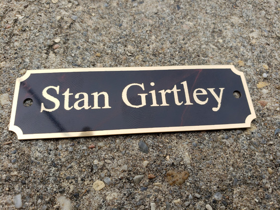 Personalized Trophy Plates, Perpetual Plaque Plates, Notched Corners Plates with Screws