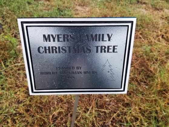 Personalized Engraved Outdoor Plaque w/ Stake, Memorial Plaque, Garden Plaque, Building Plaque, Park Plaque, Custom Plaque