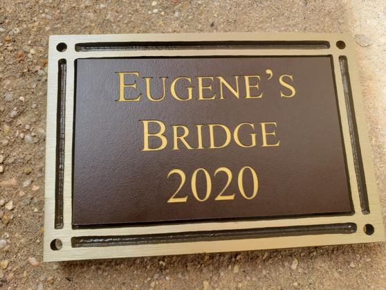 Bronze Bench Plaque, Building Plaque, Memorial Plaque, Dedication Plaque, Outdoor Plaque