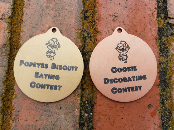 """Personalized Engraved 3"""" Medals with Neck Ribbon, Kids Medals, Olympic Medals, Party Favor Medals, Wedding Gift"""