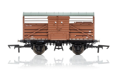 R6840 OO S52345 BULLEID 10T CATTLE WAGON BR BAUXITE