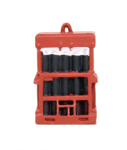 44-537 OO CAGED GAS BOTTLES