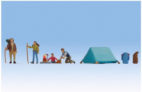 15876 HO CAMPING 4 FIGURES