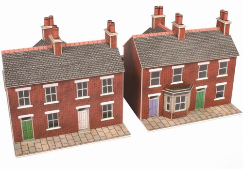 PN103 N RED BRICK TERRACED CARD KIT