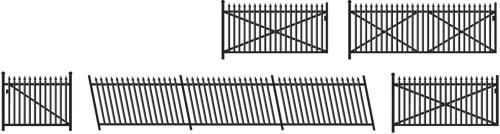 246 N GWR BLK SPEAR RAMPS/GATES