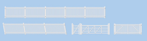 420 OO GWR WHITE STATION GATES/RAMPS/FEN