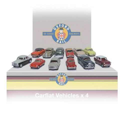 76CPK001 OO CARFLAT CAR PACK 1960'S CARS (4)