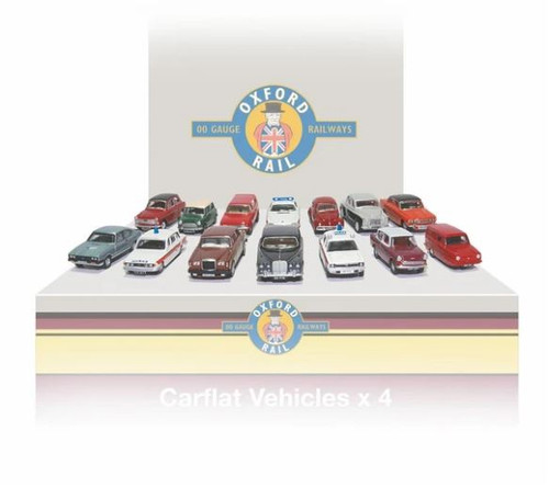 76CPK002 OO CARFLAT CAR PACK 1970'S CARS (4)
