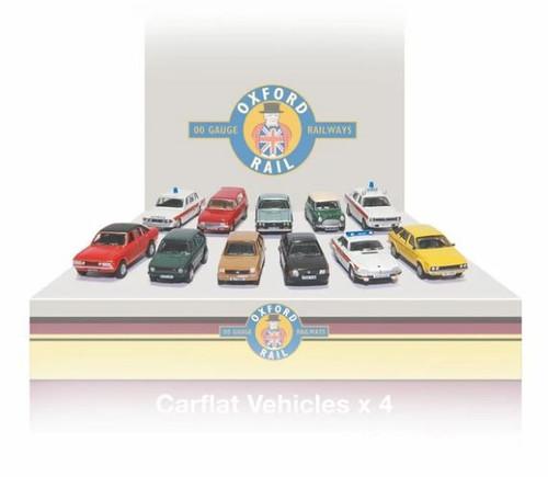 76CPK003 OO CARFLAT CAR PACK 1980'S CARS (4)