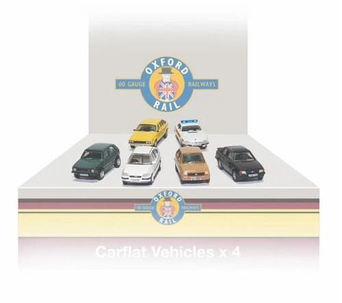 76CPK004 OO CARFLAT CAR PACK 1990'S CARS (4)