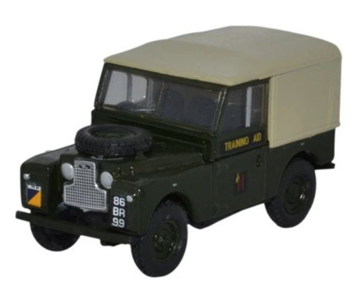 76L188022 OO LAND ROVER SERIES 1 88 CANVAS BACK 6TH TRAINING REG RTC